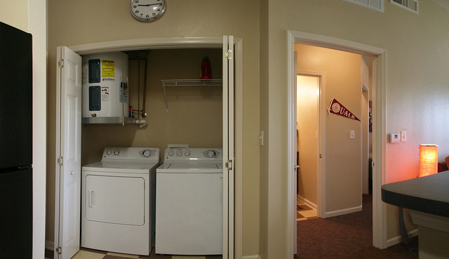 University Village Laundry Room and Bedroom Entrance