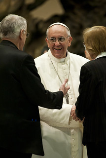 Pope Francis met with media | by Catholic Church (England and Wales)