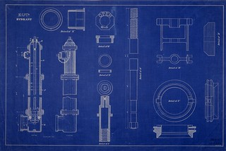 Blueprint of a K.U.T. hydrant | by NYC Water