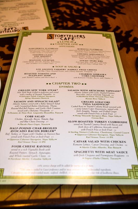 Storytellers Cafe menu