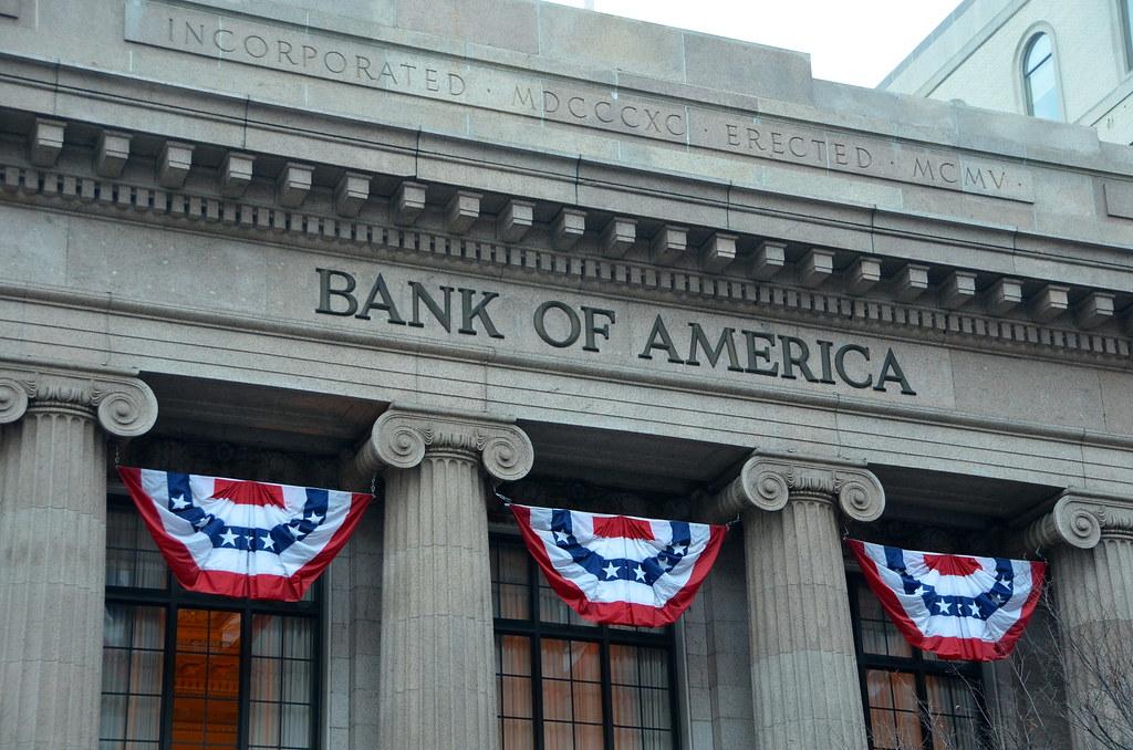 Bank of America bunting