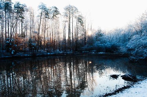 sun lake snow storm green ice sunrise way geese nc pond woods apartments north greensboro carolina brandt rise greenway
