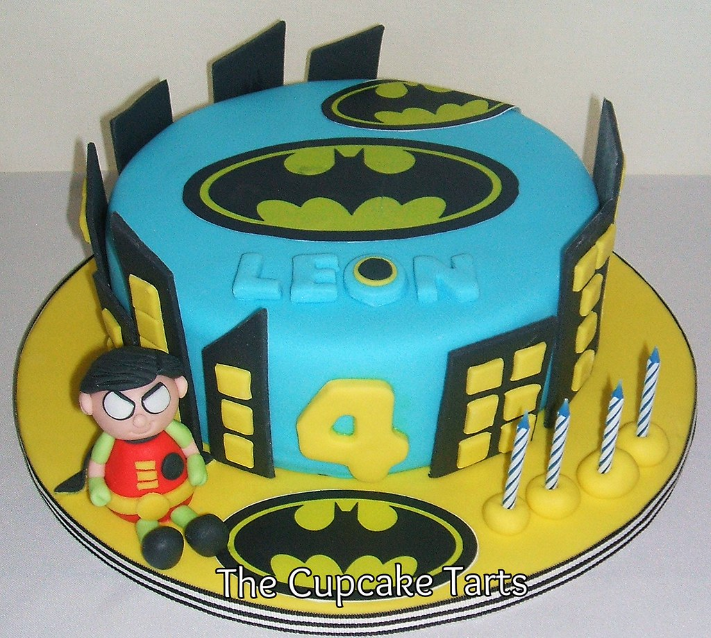 Pleasant Batman And Robin Leon Celebrated His 4Th Birthday With A Flickr Personalised Birthday Cards Vishlily Jamesorg