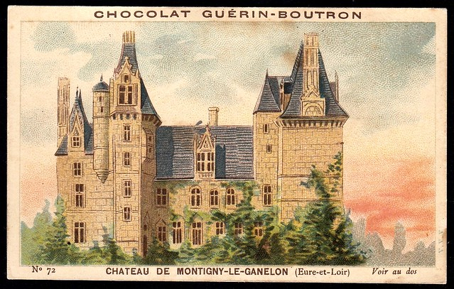French Tradecard - Chateau de Montigny-Le-Ganelon