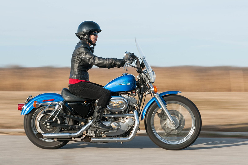 Independence for Meredith on her '97 Harley Sportster