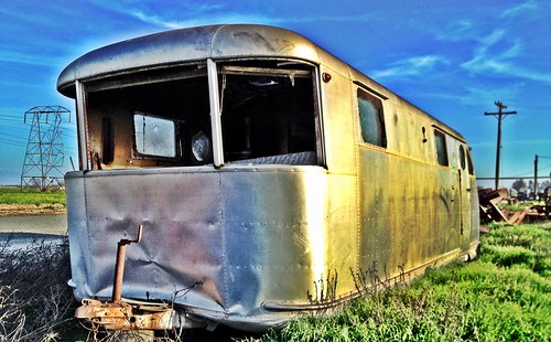 old sunset abandoned farm trailer manor airstream spartan tulare