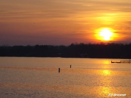 sunset water night northcarolina rowancounty