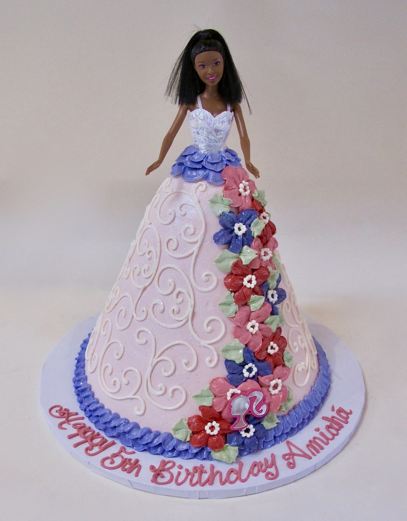 Surprising Barbie Doll Birthday Cake 301304 Barbie Doll Dress Cake Flickr Funny Birthday Cards Online Barepcheapnameinfo