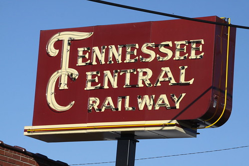 Tennessee Central Railway neon sign
