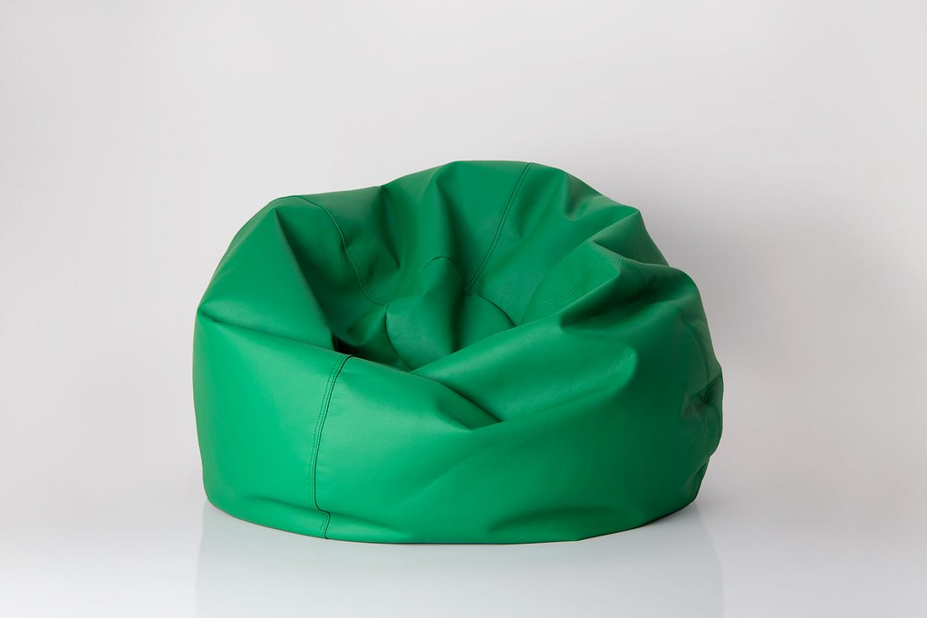 ... Green bean bag chair | by yourbestdigs & Green bean bag chair | You are free to: Share u2014 copy and redu2026 | Flickr