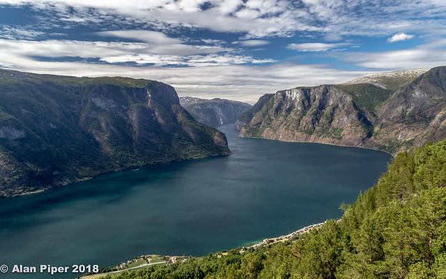 Aurlandsfjorden from Stegastein Viewpoint