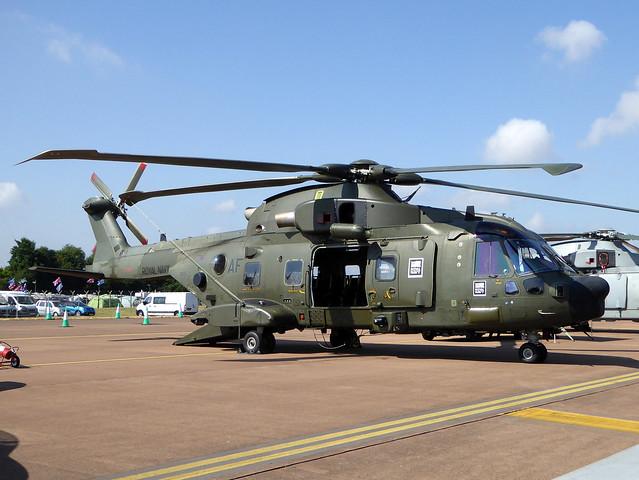 ZK001 / AF AgustaWestland EH101 Merlin HC3A cn DEN11 / 50160 Royal Navy RAF Fairford 14Jul18