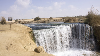 First waterfall in Egypt's Wadi El Rayan protectorate | by Kodak Agfa