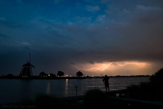 Lightning near Rottemeren