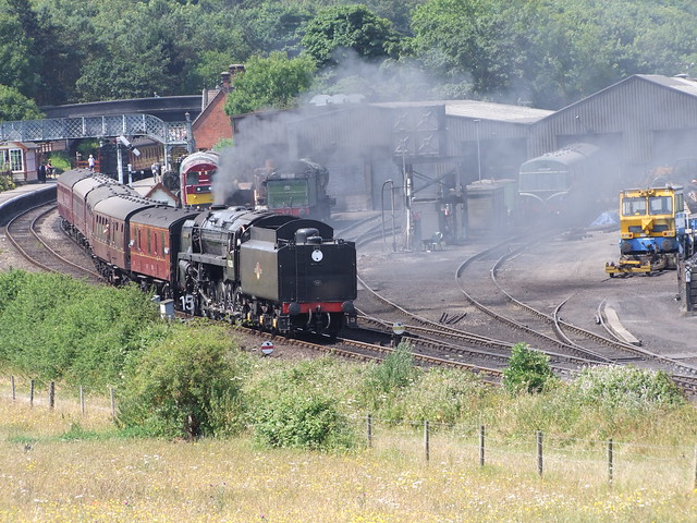 9F Black Prince 92203 departs Weybourne on a service to Weybourne 07-07-18