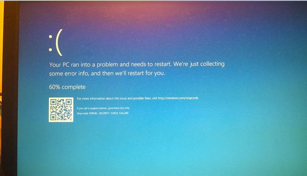 kernel Security Check Failure BSOD Error in Windows 10 | Flickr