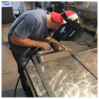 Jeffu0027s 1st Day Of Class In Custom Steel Furniture Fabricat ...