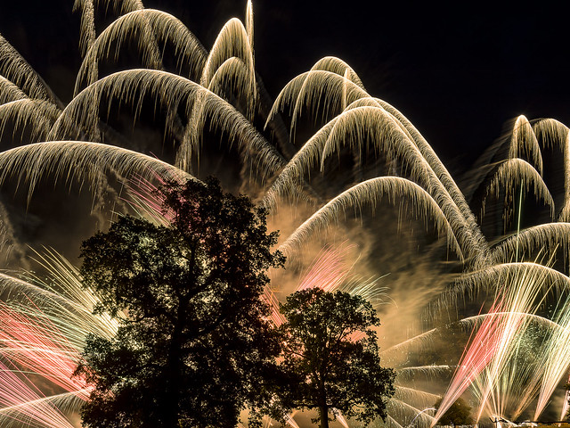 Newby Hall, fireworks 2018