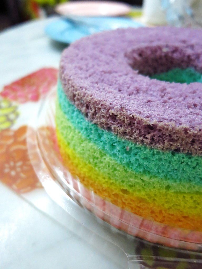 Rainbow Chiffon Cake Another Happy Colours Day Flickr