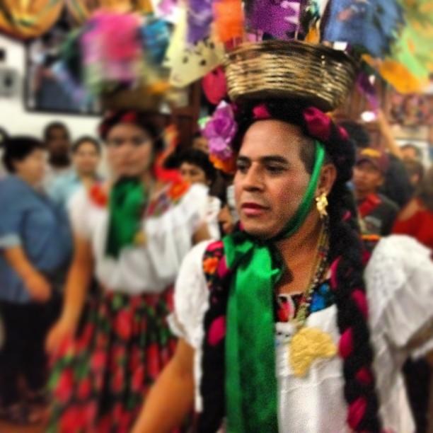 ce61c4258 ... Chunta (hombres vestidos de mujer) en la fiesta grande de   chiapadecorzo  chiapas
