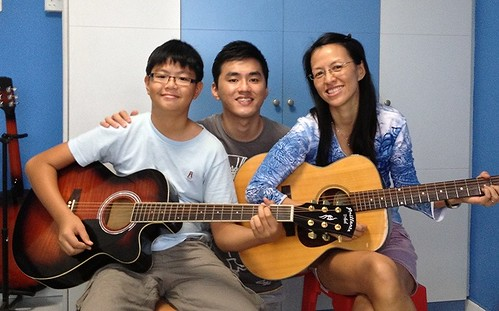 Group guitar lessons Singapore Timothy Mrs Chan