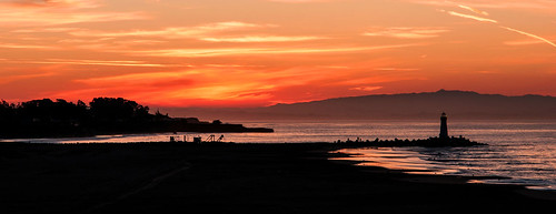 california santa red orange lighthouse colour beach yellow sunrise burn cruz barryoneilphotography