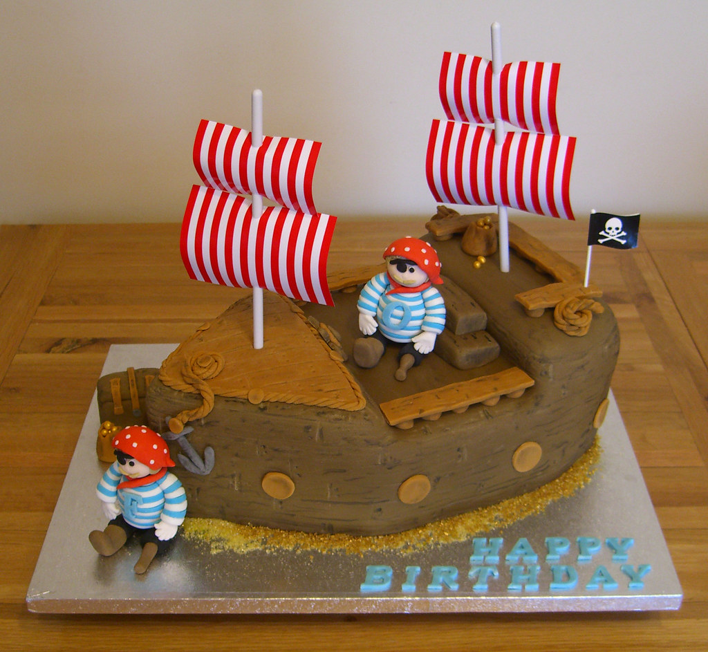 Pleasant Pirate Ship Birthday Cake Pirate Ship Themed Birthday Cake Flickr Birthday Cards Printable Riciscafe Filternl