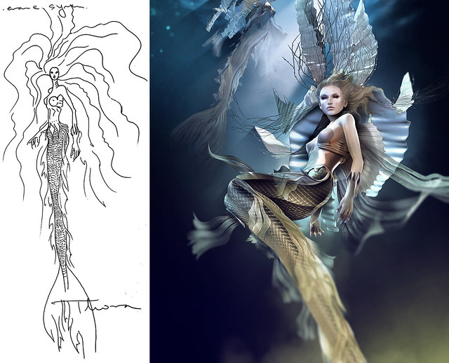 .from the sketch to the real thing