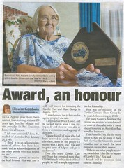 1985 Gawler's Citizen of the Year Rita Argent, courtesy The Bunyip 2013