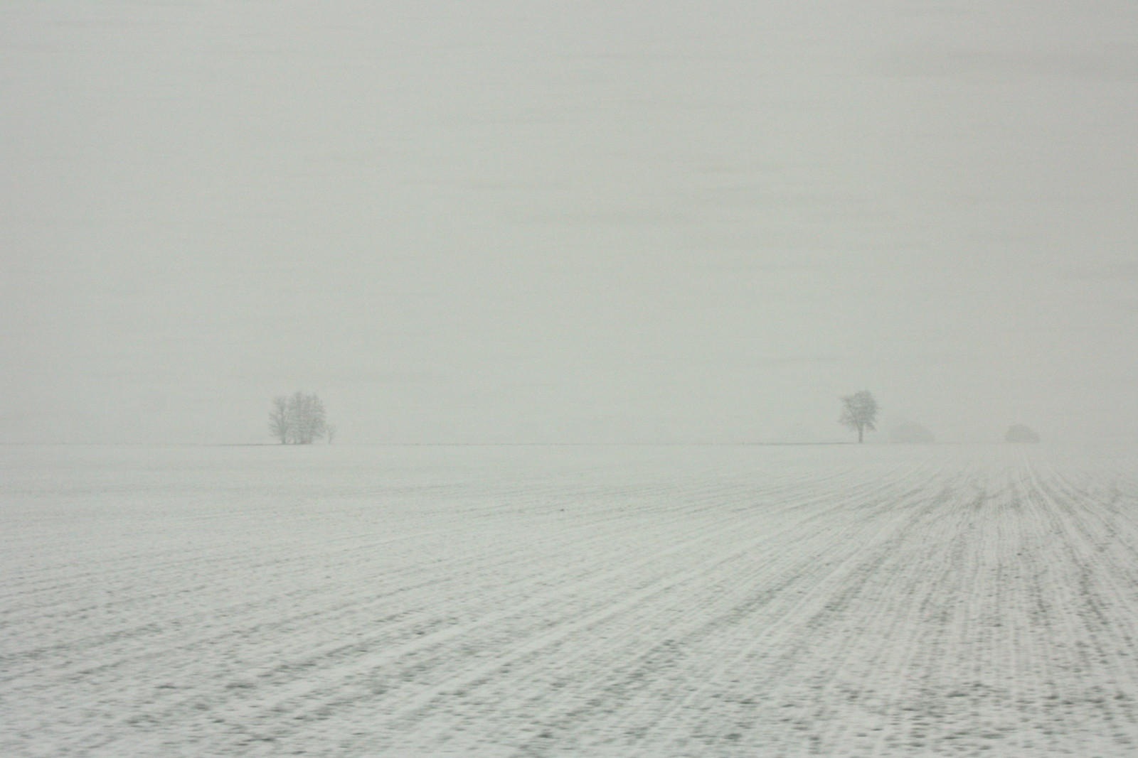 Snow in La Mancha, Spain