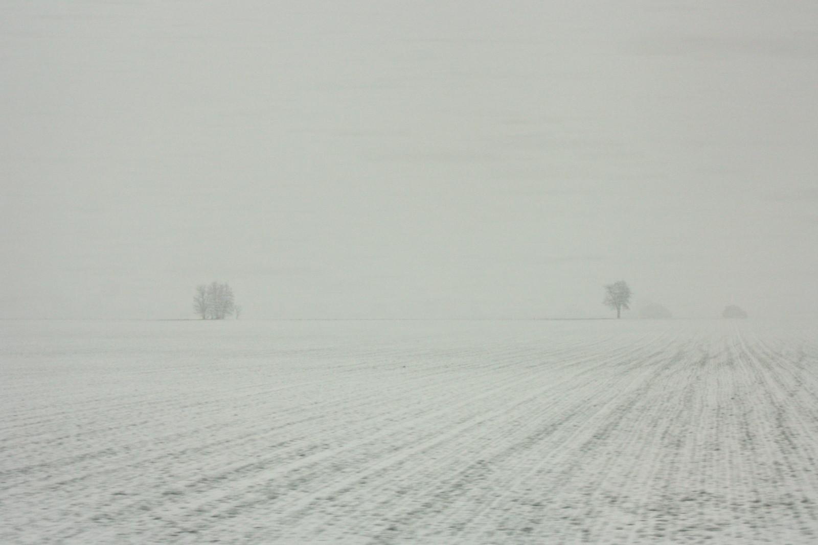 Snow in La Mancha, Spain