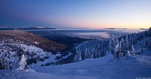 winter sunset snow mountains rockies twilight montana rocky columbia falls valley whitefish flathead bigmountain