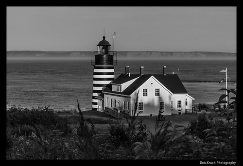 ocean sunset blackwhite maine atlanticocean quoddyheadlight