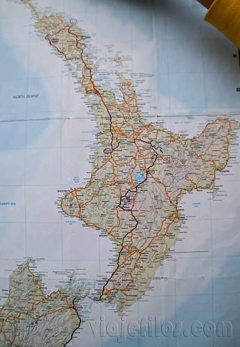 Mapa Isla Norte