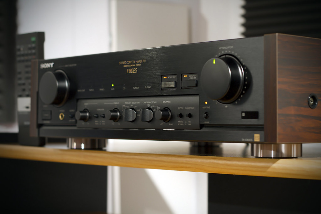 Here she is : Sony ES TA-E80ES Control Amplifier ! | Flickr