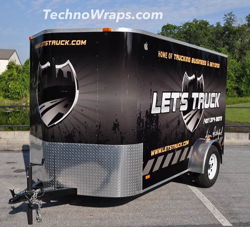 Trailer wrap by Orlando wrap shop TechnoSigns