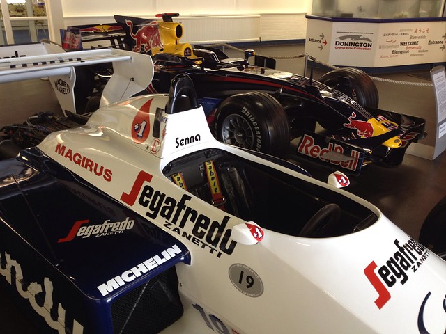 Ayrton Senna's car at Donington Collection