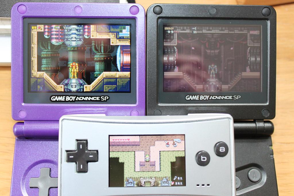 All Sizes Game Boy Advance Sp Backlit Vs Front Lit Vs