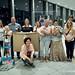"""2016_08_30 accrochage Expo """"L'Espérance Esch en Images"""" - Belval Plaza"""