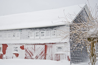 Snow covered barn | by Clara S.