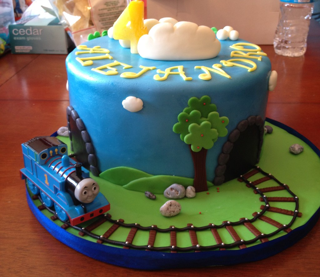 Pleasing Thomas The Train Birthday Cake This Cake Was A Yellow Cake Flickr Personalised Birthday Cards Paralily Jamesorg