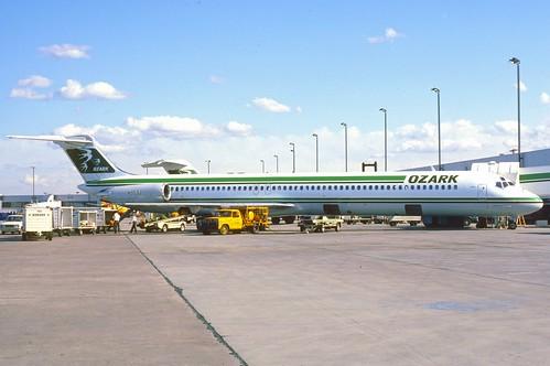Ozark Airlines Md 82 N953u April 1986 Bqd First Flight