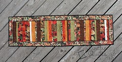 Autumn Strip Quilt Table Runner