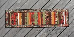Autumn Strip Quilt Table Runner