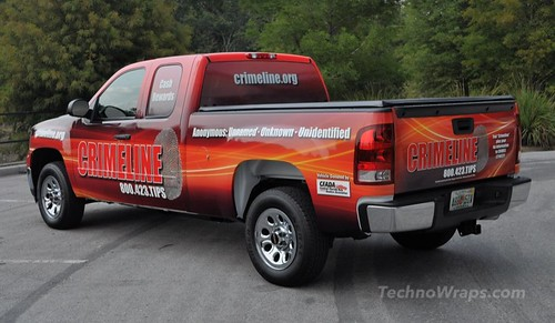 Pickup truck vinyl wrap by TechnoSigns Orlando