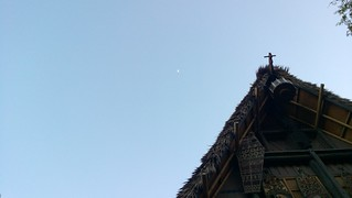 The Moon and the top of the Enchanted Tiki Room | by Ms. Jen
