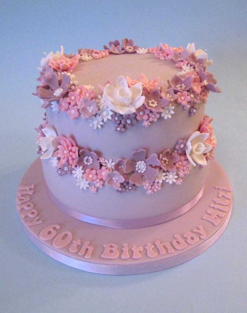Pretty 60th Birthday Cake