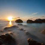 Italian seascape sunset