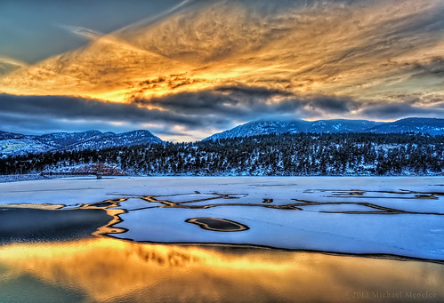 winter light sunset lake snow reflection nature season landscape gold colorado glow seasons dusk co hdr larimer photomatix clff wintertrime