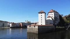 Пассау - слияние Дуная и Ильца
